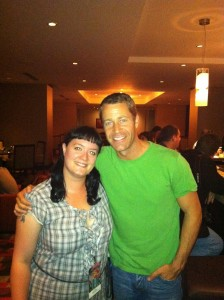 Me with Colin Ferguson, Thursday night