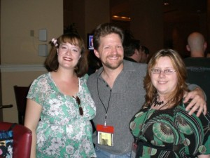 Me (about 5 months pregnant with Minion 3.0), Tee Morris, and Philippa Ballantine - World Fantasy Convention 2009